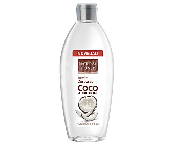 Natural Honey Aceite corporal Coco Addiction hidratación profunda Frasco 300 ml