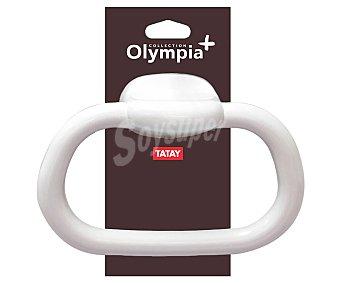 Tatay olympia Toallero con forma de aro pequeño fabricado en Pvc de color blanco, TATAY