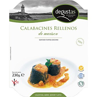 DEGUSTAS Calabacín relleno de gambas Bandeja 230 g