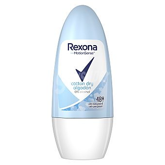 Rexona Desodorante roll on para mujer antitranspirante 48 horas motionsense algodón 50 ml