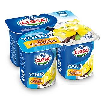 CLESA Yogur sabor vainilla Pack 4 unidades 125 gr