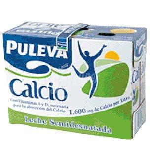 Puleva Leche semi c/calcio Pack de 8 uds de 1 l