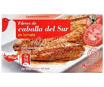 Auchan Filetes de Caballa del Sur en Tomate Lata 65 gramos