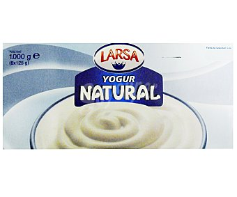 LARSA Yogur natural Pack de 8x125 g