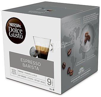 Dolce Gusto Nescafé Café molido de tueste Expresso Barista en cápsulas, intensidad 9 Caja 16 unidades