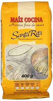 Santa Rita Harina fina de maíz para cocinar Paquete 400 g