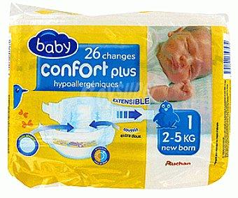 Auchan Pañales Confort para Niños de 2 a 5 Kilogramos 26u