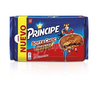 Príncipe Galletas soft de chocolate rellenas de crema de cacao 6 uds. 180 g