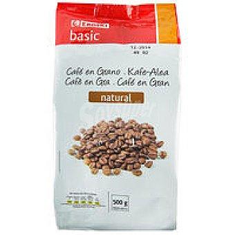Eroski Basic Café en grano natural Paquete 500 g