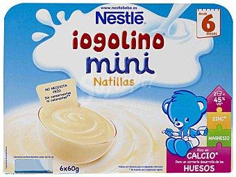 Iogolino Nestlé Iogolino mini natillas Pack 6x60 g