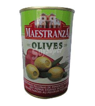 Maestranza Aceitunas rellenas pimiento picante 130 g