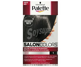Palette Tinte Salón Colors Nº1 Negro 1 ud