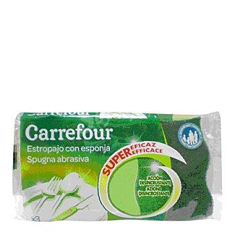 Carrefour Fibra verde con esponja 3 ud
