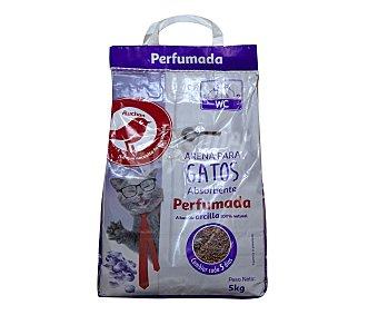 Producto Alcampo Arena absorbente perfumada para gatos 5 kg