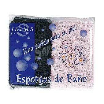 Darli Esponja de baño felpa Bolsa 2 u