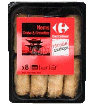 Carrefour Nems cangrejo y langostino Pack de 8x30 g