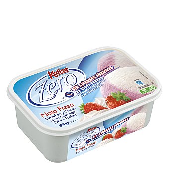Kalise Helado de nata y fresa sin gluten 1 l