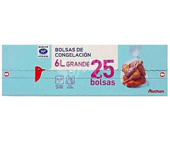 Auchan Bolsas de congelación grandes 25 uds