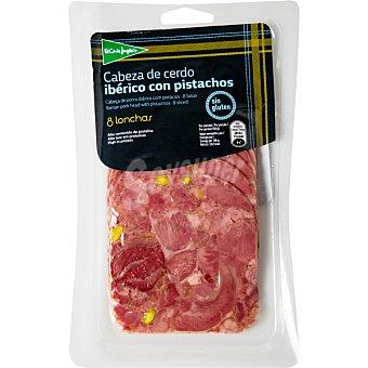 El Corte Inglés Cabeza de cerdo ibérico con pistachos en lonchas Envase 150 g