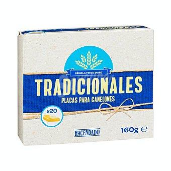 Hacendado Canelones tradicionales placas Caja 160 g