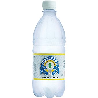 FONTEROR Agua mineral natural con gas botella 50 cl 50 cl