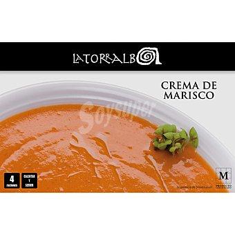La Torralba Crema de marisco 4 raciones calentar y listo Bandeja 1000 g neto escurrido