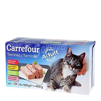 Carrefour Delicias para gatos Pack 4x100 gr