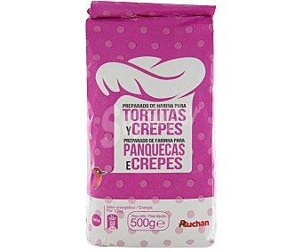 Auchan Preparado de harina para tortitas y crepes 500 gr