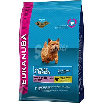EUKANUBA MATURE & SENIOR Alimento completo para perros adultos de raza pequeña de + 7 años bolsa 1 kg Bolsa 1 kg