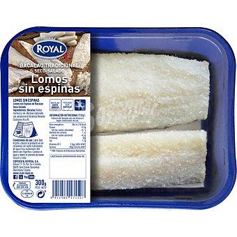 Pescados Royal Lomos de bacalao salado sin espinas bandeja 300 g bandeja 300 g