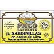 Sardinillas en aceite de oliva 20-22 piezas Lata 85 g neto escurrido Paco lafuente