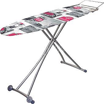 UNIT Mesa de planchar con ruedas y reposa plancha retractil