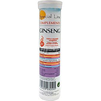 SPECIAL LINE Ginseng sabor naranja efervescentes tubo 84 g 20 comprimidos