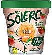 Helado de melocotón con trocitos de fruta y apto para veganos Tarrina 500 ml Solero Frigo