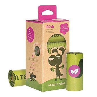 Lice Bolsas biológicas higiénicas para perros aroma lavanda de recambio 15 bolsitas 8 rollos