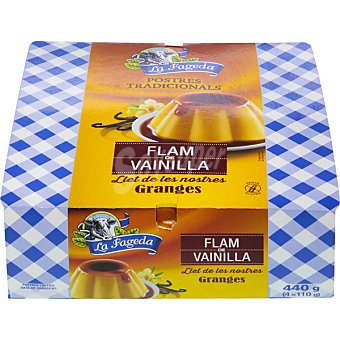 La Fageda Flan de vainilla Pack 4 unidades 125 g