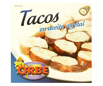 Orbe Tacos de pota en aceite vegetal 168 Gramos