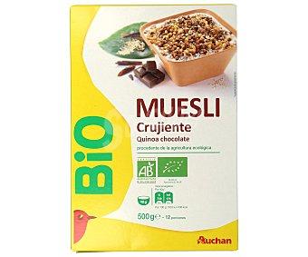 Alcampo Cereales muesli con quinoa y con chocolate ecológico 500 g