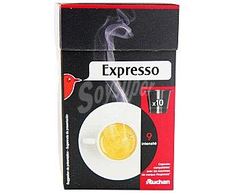 Auchan Café molido de tueste natural expresso en monodosis 10 unidades 55 gramos
