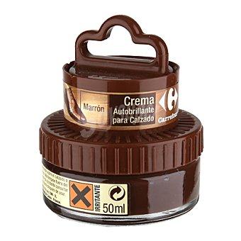 Carrefour Crema autobrillante c/aplicador marrón 50 ml