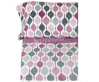 Karamelo home Juego de sábanas de 4 piezas 100% poiliéster con estampado color rosa, tejido microlina, 135cm. HOME.