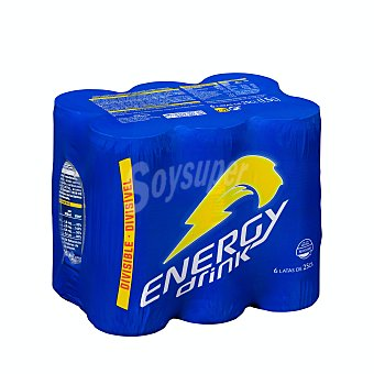 Energy Drink Bebida energetica Lata pack 6 x 250 ml - 1500 ml