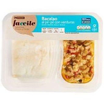 Eroski Faccile Bacalao al pil pil con verduras Bandeja 250 g