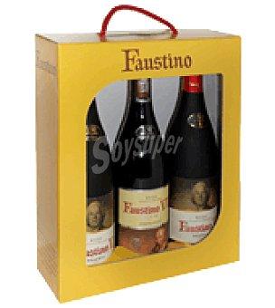 Faustino Estuche de vino tinto 2 reserva + 1 joven D.O. Rioja 1 ud
