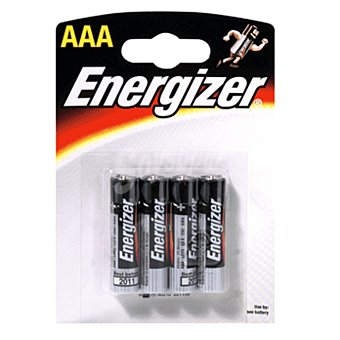 Energizer Pila alcalina AAA (LR3) blister 4 unidades 4 unidades