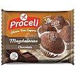 Magdalenas de chocolate sin gluten Paquete 180 g Proceli