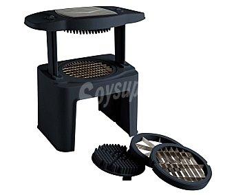 QUID Troceador de cocina por presión modelo Prepara, 28x16 centímetros, incluye 3 hojas intercambiables; laminar, corte en bastón o descorazonador 1 unidad