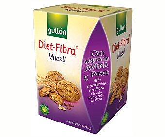Gullón Galleta muesli Diet fibra de Paquete de 450g