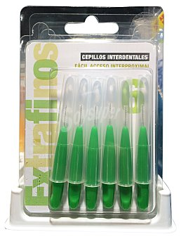 Spberner Cepillo interdental extra fino verde Paquete 6 u
