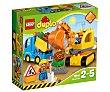 Juego de construcciones Camión y excavadora con orugas con 26 piezas, Duplo 10812 lego  Lego duplo